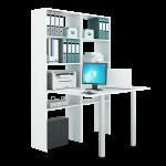 """Компьютерные столы со стеллажом серии """"Рикс"""""""