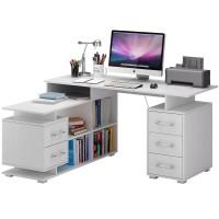 Угловой письменный стол Барди-3 Белый