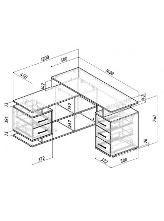 Письменный стол Краст-3 угловой
