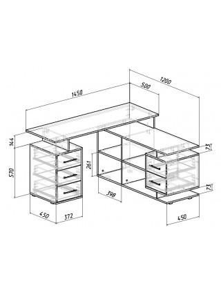 Угловой компьютерный стол Краст-3 правый