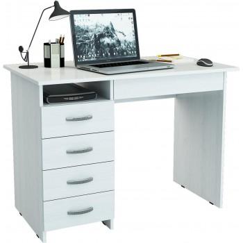 Белый компьютерный стол Милан-1