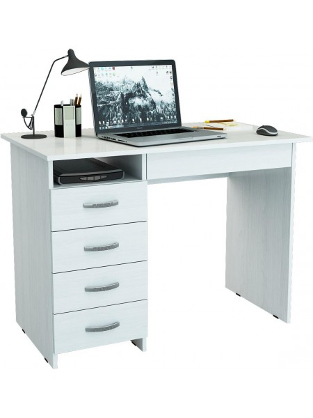 Компьютерный стол Милан-1Белый