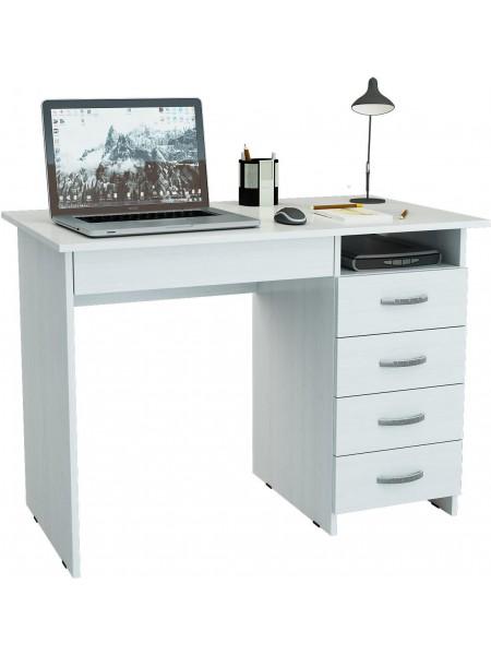 Белый письменный стол Милан-1 правый