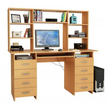 Письменный стол Милан-10П с надставкой