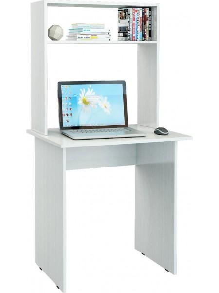 Белый письменный стол Милан-2 с надставкой