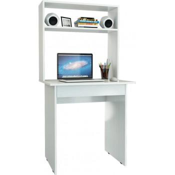 Письменный стол Милан-2Я с надставкой Белый