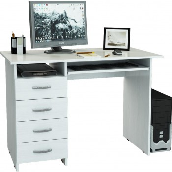 Белый компьютерный стол Милан-3