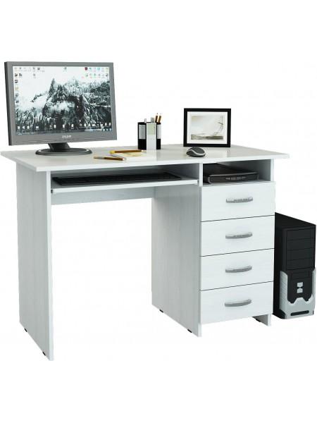 Белый письменный стол Милан-3 правый