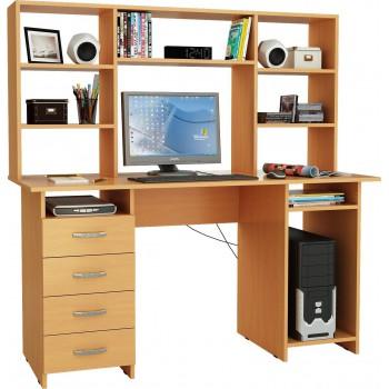 Компьютерный стол Милан-6 с надставкой