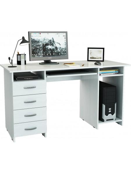 Письменный стол Милан-6П Белый