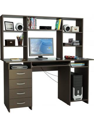 Компьютерный стол Милан-6П с надставкой