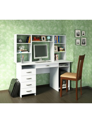 Компьютерный стол Милан-6Я с надставкой