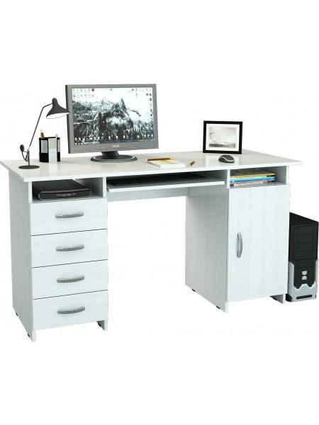 Письменный стол Милан-7П Белый