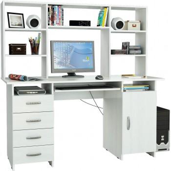 Белый стол Милан-7П с надставкой