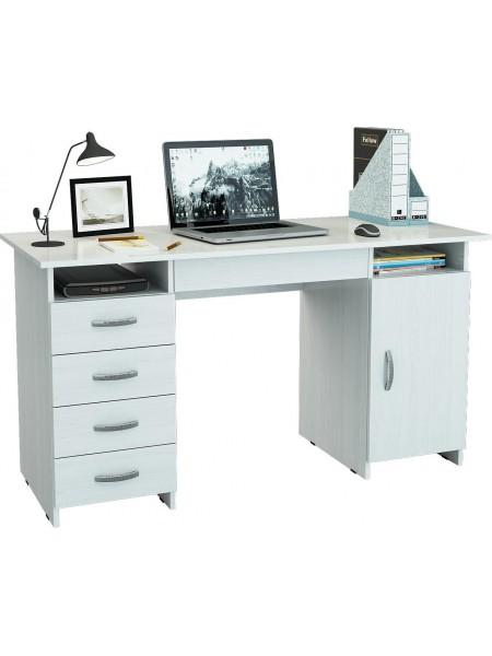 Компьютерный стол Милан-7Я Белый