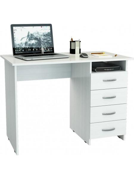 Белый письменный стол Милан правый