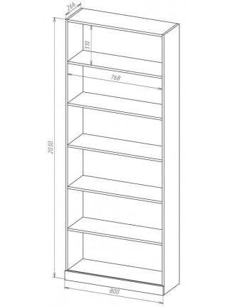 Книжный шкаф-стеллаж Карлос-004