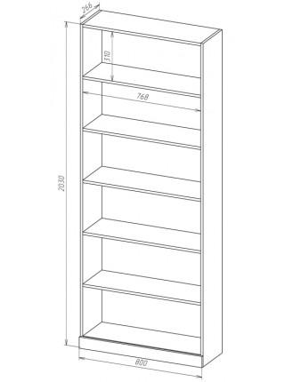 Книжный шкаф-стеллаж Карлос-006