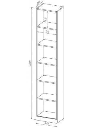 Книжный шкаф-стеллаж Карлос-007
