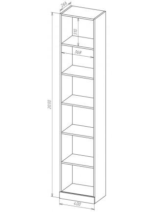 Книжный шкаф-стеллаж Карлос-011