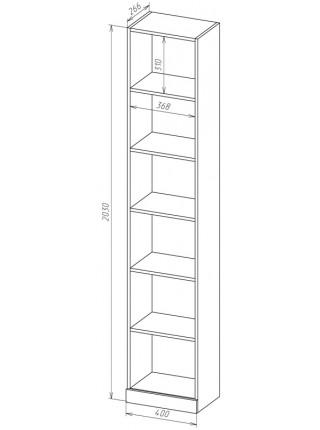 Книжный шкаф-стеллаж Карлос-015