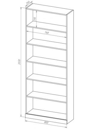 Книжный шкаф-стеллаж Карлос-018