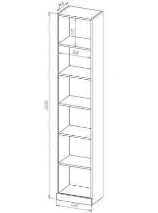 Книжный шкаф-стеллаж Карлос-023