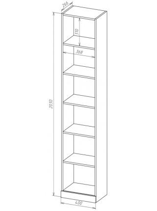 Книжный шкаф-стеллаж Карлос-025