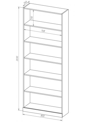 Книжный шкаф-стеллаж Карлос-026