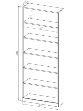 Книжный шкаф-стеллаж Карлос-028