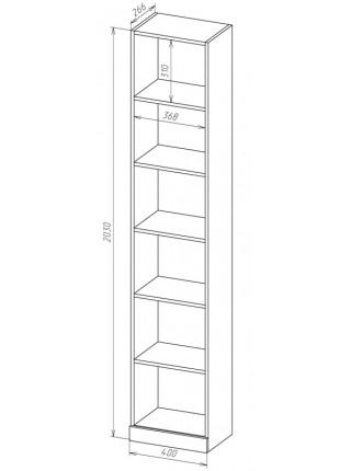 Книжный шкаф-стеллаж Карлос-035