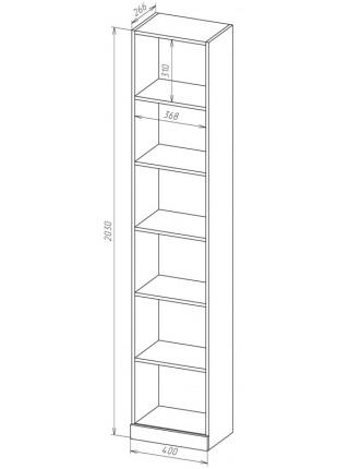 Книжный шкаф-стеллаж Карлос-049