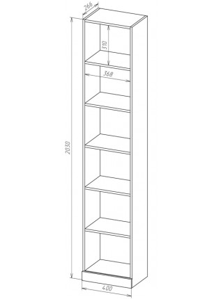Книжный шкаф-стеллаж Карлос-051