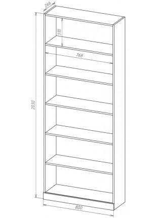 Книжный шкаф-стеллаж Карлос-052