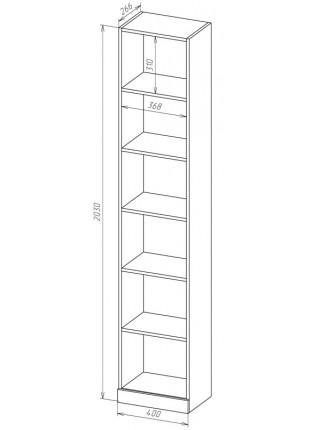 Книжный шкаф-стеллаж Карлос-053