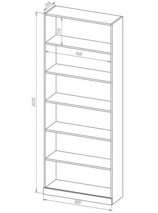 Книжный шкаф-стеллаж Карлос-048