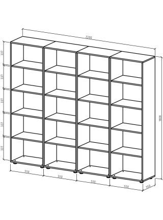 Шкаф Остин-10 бельевой