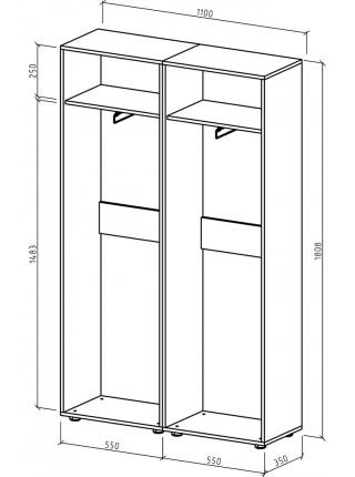 Шкаф Остин-3 платяной