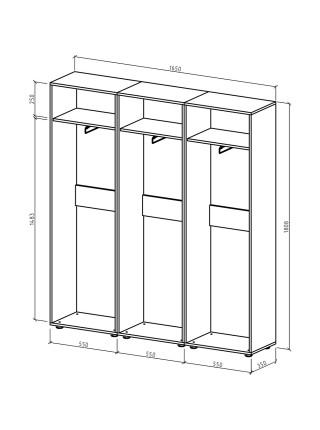 Шкаф Остин-6 платяной