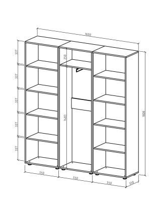 Шкаф Остин-8 бельевой/платяной