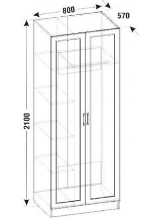 Распашной шкаф ШО-02.1