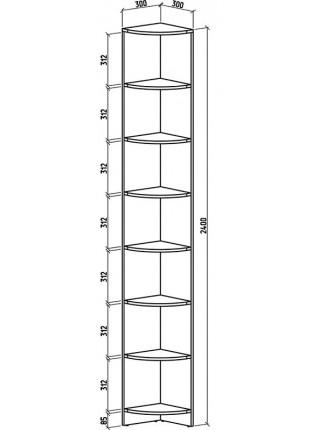 Угловой терминал Верона (2400*300*300)