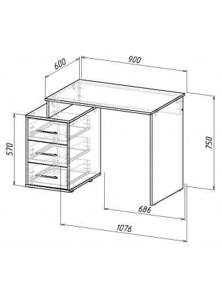 Письменный стол Экстер-3