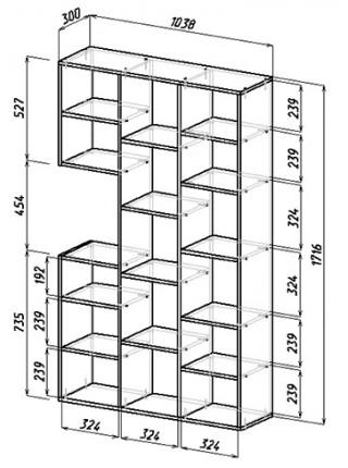 Стол-стеллаж Рикс-15