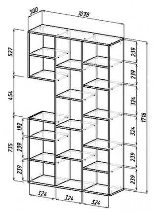 Стол-стеллаж Рикс-16