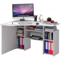 Угловой компьютерный стол Корнет-1 Белый