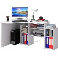 Угловой компьютерный стол Корнет-1 вариант 2 Белый