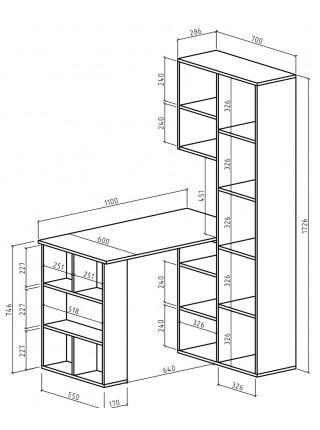 Стол-стеллаж Феликс-25