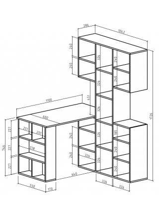 Стол-стеллаж Феликс-35
