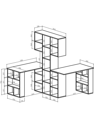 Стол-стеллаж Феликс-355